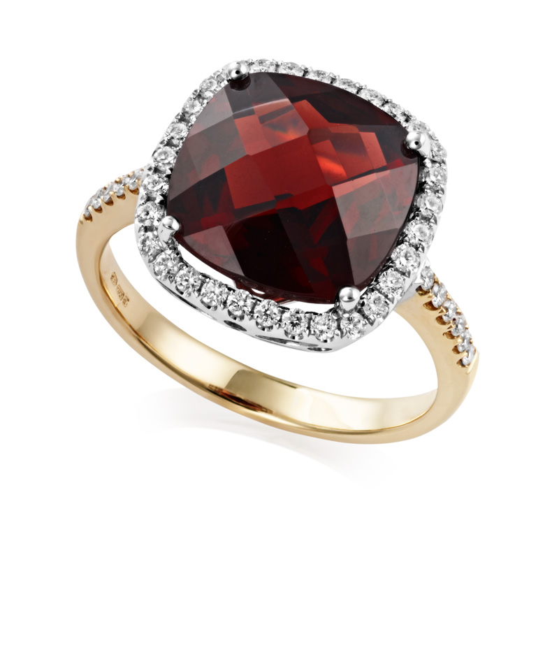 bloomfield garnet and ring